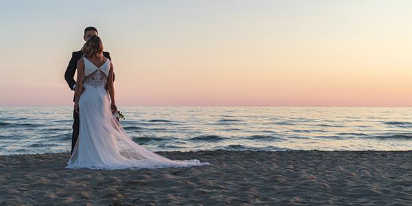 matrimonio in spiaggia fregene controvento